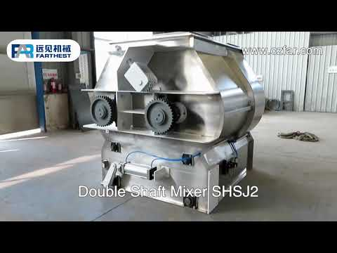 Double Shaft Livestock Feed Grinder Mixer For Pellets Powder Materials