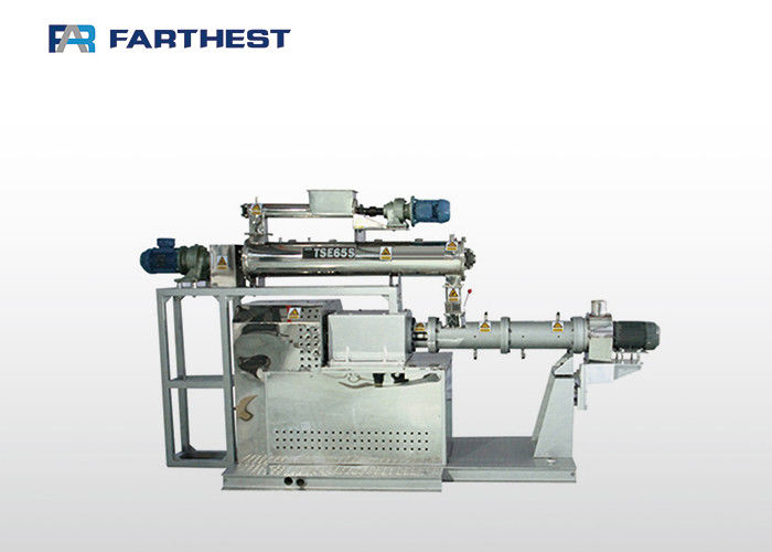 Floating Fish Feed Extruder Machine Twin Screw Anti Wear Alloy Long Service Life