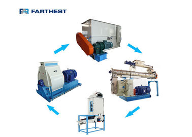 Automatic Animal Chicken Feed Pellet Production Line Small Size Customized Design